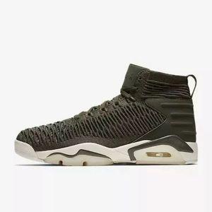 best sneakers 964bc 0b021 Nike Air Jordan Flyknit Elevation 23 Green Shoes